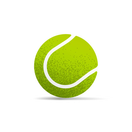 Tennis ball realistic vector illustration isolated on white background