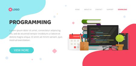 Programming Or Coding Service Agency Website Template Design