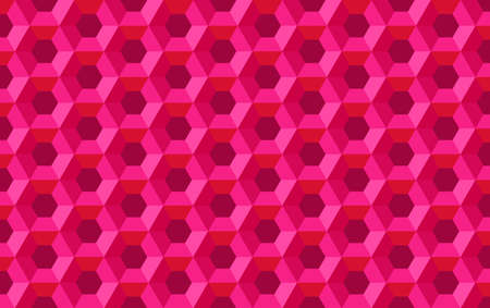 Honeycomb hexagon abstract seamless vector background pattern purple red illustration, geometric symmetric polygon structure repeated backdrop grid template for technology flyer cover brochure 일러스트