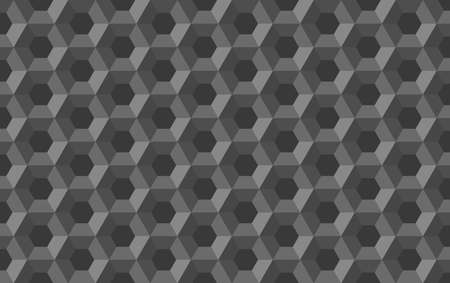 Honeycomb hexagon abstract seamless  3d background pattern black white illustration, geometric symmetric polygon structure repeated backdrop grid template 일러스트
