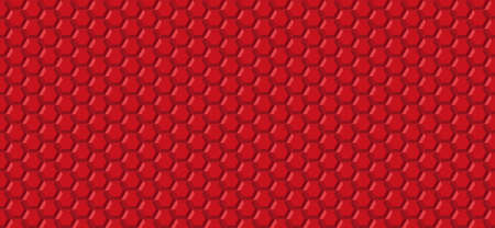 Honeycomb hexagon abstract seamless  3d background pattern red, geometric symmetric  shape bubbles structure repeated backdrop grid template