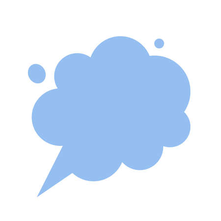 Thinking cloud dreaming chat t thoughts bubble message  isolated comic flat cartoon icon, talking dialog speech balloon conversation, discussion comment blank empty copy space clipart 일러스트
