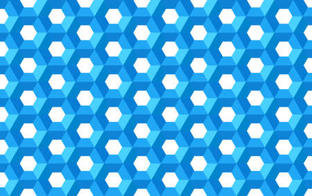 Honeycomb hexagon geometric symmetric grid structure repeated backdrop template seamless  background 일러스트