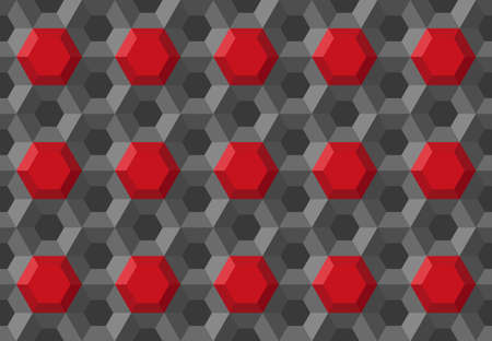 Honeycomb hexagon technology medical background geometric symmetric grid structure repeated backdrop template, abstract 3d illustration pattern 일러스트