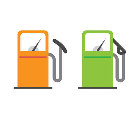 Gas petrol station icon vector, gasoline fuel refill oil pump sign symbol flat cartoon isolated pictogram clipart image