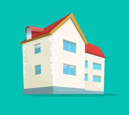Home or house vector icon flat cartoon comic isolated design, real estate building concept, residential mansion or cottage 3d illustration object clipart, property apartment image 일러스트