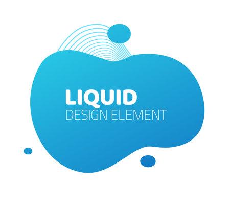 Fluid liquid splash frame element design for text copy space vector abstract, modern design of blob background shape, blue color curve pattern, backdrop idea for flyer or presentation image