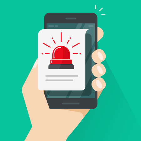 Alarm alert caution message vector or risk attention warning safety internet information notice notification on mobile cellular phone flat, smartphone with exclamation document with danger data image 向量圖像