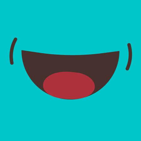 Smile icon vector fun cartoon doodle style