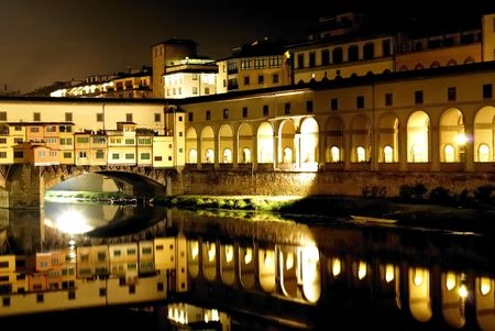 a view of Ponte vecchio,florence,italy at nigth Stock Photo