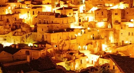 Matera.A city inside the stones Stock Photo