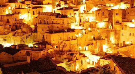 Matera.A city inside the stones Stock Photo