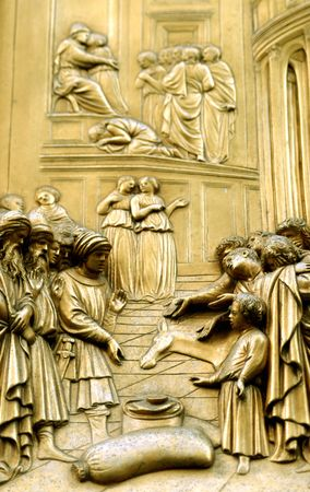 the door of paradise(colection)outside the duomo of florence. photo