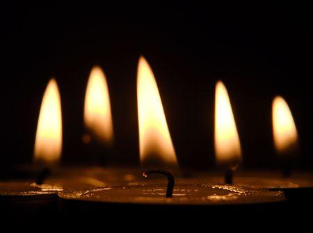 christmas scent: velas Foto de archivo