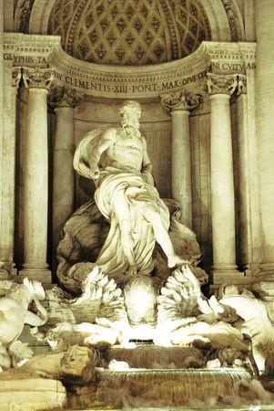 fontana: Fontana di trevi Stock Photo