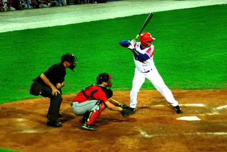 An image of the semifinal game betwen Cuba and Canada,the 25092009.the victory was for the cubas team,5x1.Cuba,with this victory passed to the final,with USA.