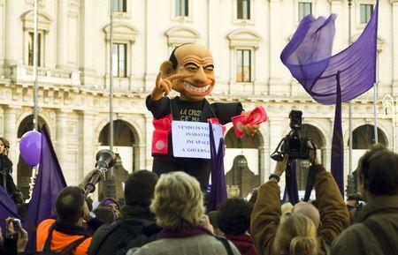 5 december 2009,Piazza della Republica,Rome,NoBday(not berlusconis Day)The manifestation.