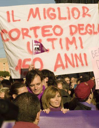5 december 2009,Piazza della Republica,Rome,NoBday(not berlusconi's Day)The manifestation.people... Stock Photo - 6888048