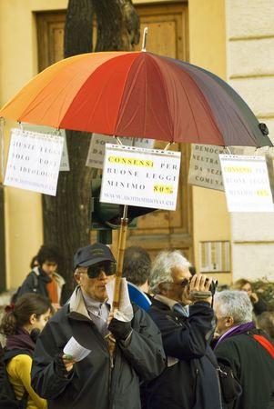 5 december 2009,Piazza della Republica,Rome,NoBday(not berlusconis Day)The manifestation.people...