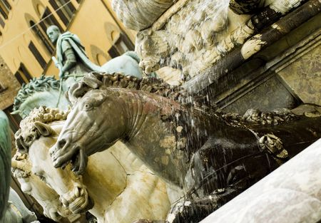 neptunos fountain,details Stock Photo