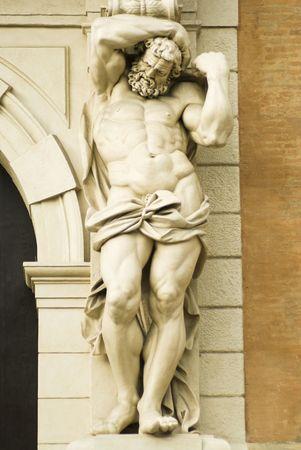 escultura romana: mortadela, escultura