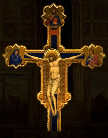famous cross of giotto.Florence, Italy