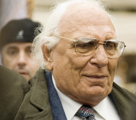 electoral: Marco Panella,Historical leader of the Radical Party(founder of the party in 1955) in an electoral polls in florence, march2010.Marco Pannella was one of the protagonists of the civil rights battles of the Seventies.