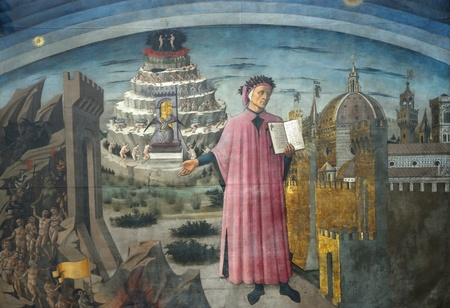 florence: The duome of florence. A famous representation of the Divine Comedy of Dante.  Editorial