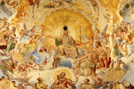 were: The Brunelleschis dome in the cathedral of florence, italy. The murals were painted by Giorgio Vasari and Federico Zuccari