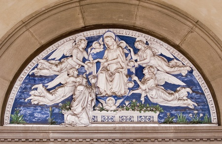 decorative mosaic in the academy of art of florence