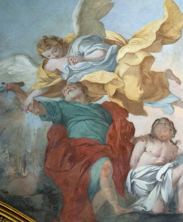renaissance wall paintings in the city of Florence, Italy. Editorial