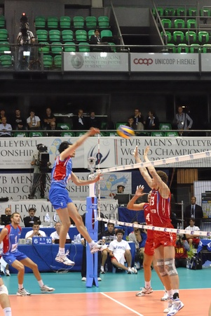National Team of Serbia defeated  to Russia, three sets to one, in the XVII World Volleyball Championship, which takes place in several cities in Italy