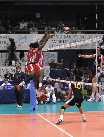 Cuba defeated to spain in the 3x1 in the XVII world Volleyball Championship. 5 october 2010