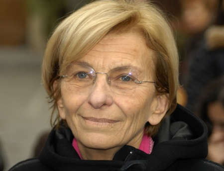 nonviolent: Emma bonino in an election poll, march 2011. she has running for the regional goverment of Lazio