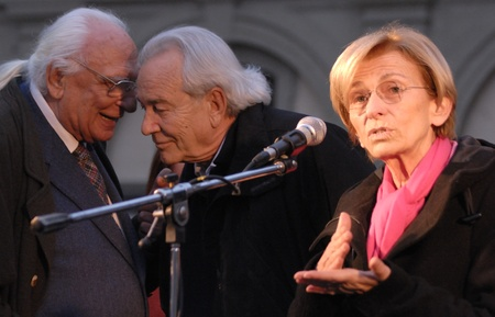 Emma bonino in an election poll, march 2011. she has running for the regional goverment of Lazio
