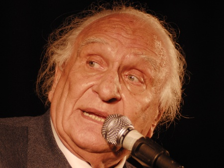 senate race: Marco Panella,Historical leader of the Radical Party(founder of the party in 1955) in an electoral polls in florence, march2010.Marco Pannella was one of the protagonists of the civil rights battles of the Seventies.