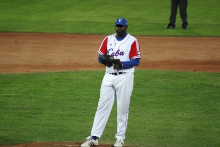 mage of the game betwen Canada and Cuba in the baseball worldcup.Cuba was the winner,5x1,and pass to the final with USA.