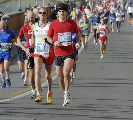 marathon runner: marathon of florence