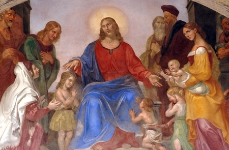 religious mural in  Florence  Editorial