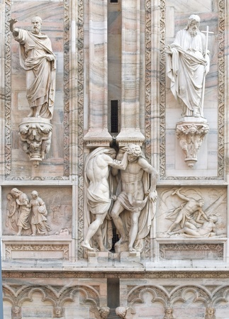 duomo of florence: facade of the cathedral of milan