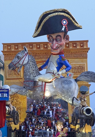 VIAREGGIO, ITALY - MARCH 4  One of the carnival floats in the famous carnival of Viareggio, on March 4, 2012, in Viareggio, Italy