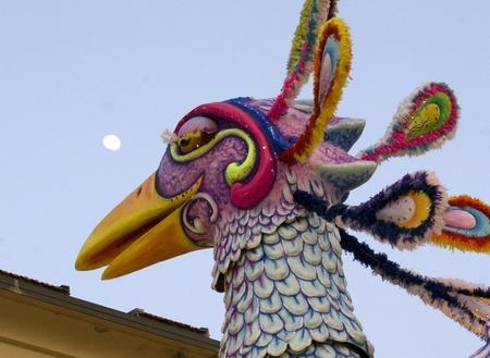VIAREGGIO, ITALY - MARCH 4  One of the carnival floats in the famous carnival of Viareggio, on March 4, 2012, in Viareggio, Italy