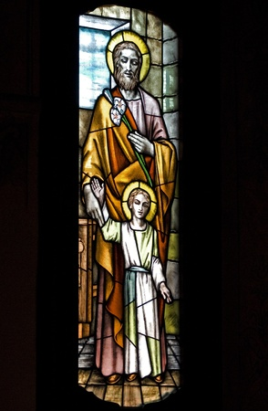 ancient stained glass photo