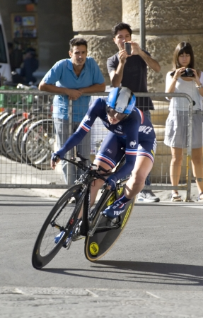 identified: UCI road world championships  Tuscany 2013  Individual time trial  Women Juniors non identified  France