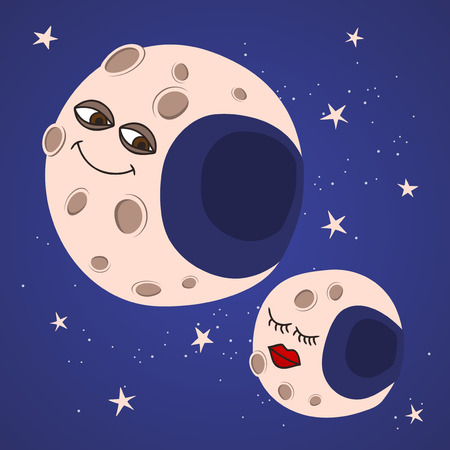 moons: cartoon moons