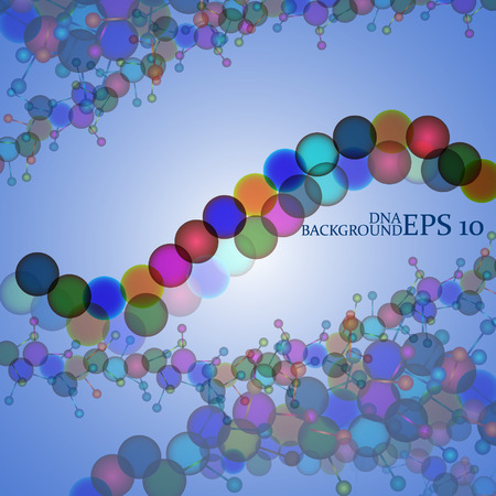 Molecule DNA  Abstract background Stock Vector - 26072854