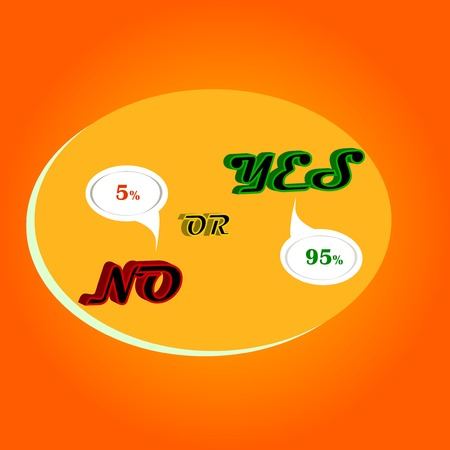 no are yes,yellow background, conflict business,arguing  success Vector