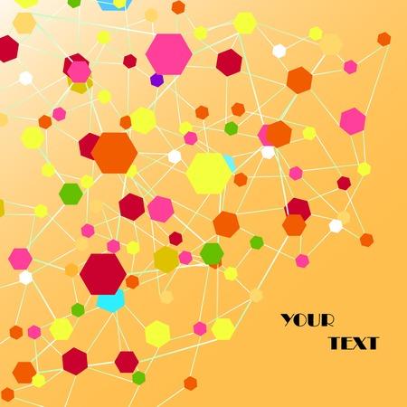 behang blauw: atoom zeshoek, abstracte achtergrond, blauw behang, molecule dn
