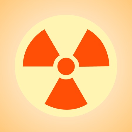 radioisotope: nuclear  symbol, caution  radioactivity, sign  hazard, background, polution