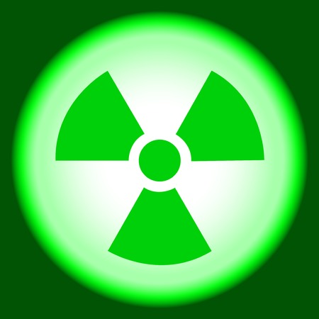 radioisotope:  peaceful atom, nuclear  symbol, caution  radioactivity, sign  hazard, background